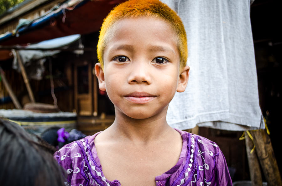Young boy in Myanmar.