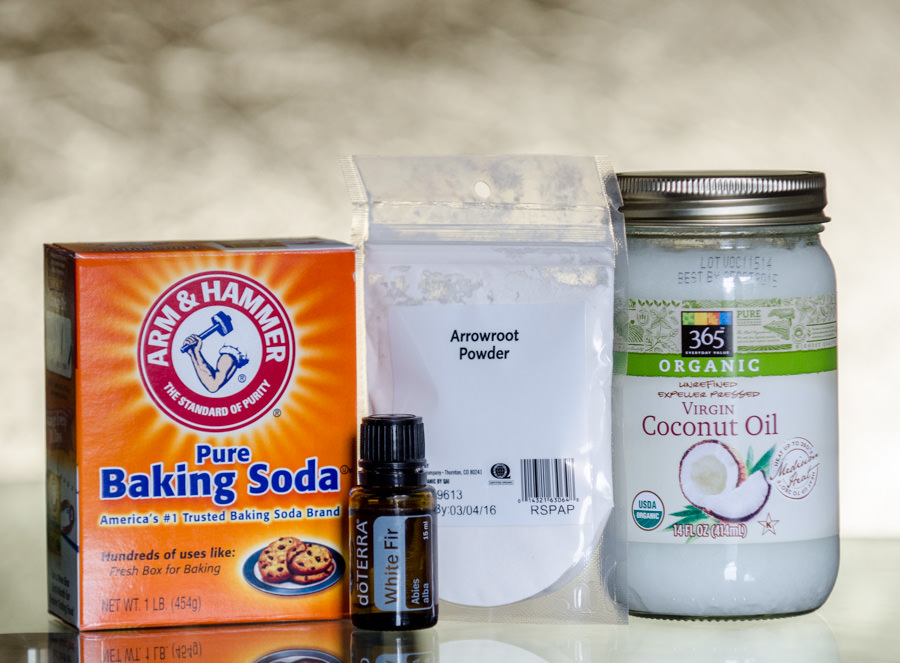 Ingredients needed for natural deodorant