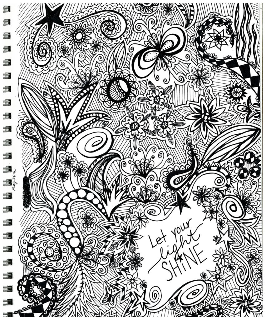 Let Your Light Shine Zentangle